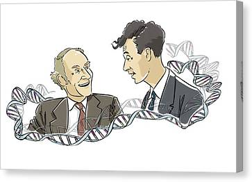 Watson And Crick Canvas Print by Harald Ritsch