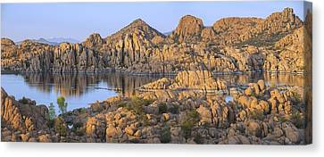 Watson Lake Canvas Print by Christian Heeb