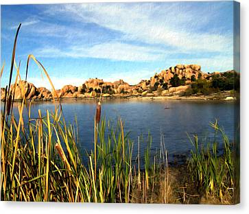 Watson Lake Canvas Print by Kurt Van Wagner