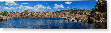 Watson Lake Panorama 1 Canvas Print