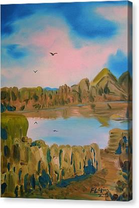 Watson Lake Prescott Arizona Canvas Print by J FLoRian Dunn