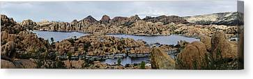Watson Lake Canvas Print by Richard Henne