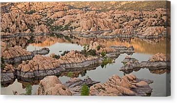 Watson Lake Sunset Canvas Print
