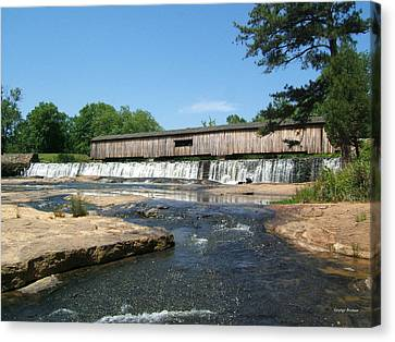 Watson Mill Covered Bridge 010 Canvas Print by George Bostian