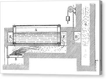 Watt Boiler Canvas Print by Science Photo Library