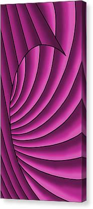 Canvas Print featuring the digital art Wave - Fuchsia  by Judi Quelland