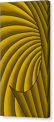 Canvas Print featuring the digital art Wave - Golds by Judi Quelland
