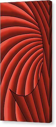 Canvas Print featuring the digital art Wave - Reds by Judi Quelland