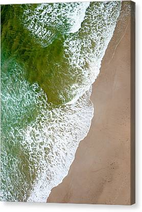 Wave Action On Tallow Beach Canvas Print by Rob Huntley