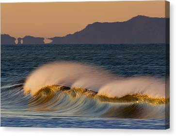 Canvas Print featuring the photograph Wave And Island 73a5281 by David Orias