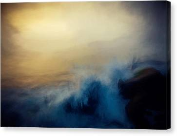 Wave Break Canvas Print by John K Woodruff