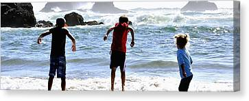 Wave Jumpers 25615 Canvas Print