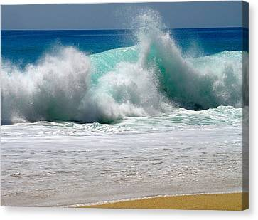 Beach Canvas Print - Wave by Karon Melillo DeVega
