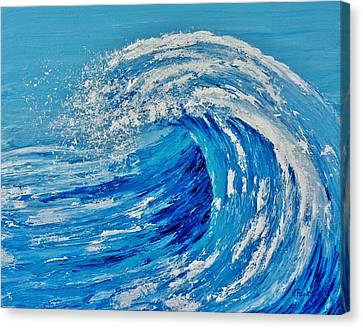 Canvas Print featuring the painting Wave by Katherine Young-Beck