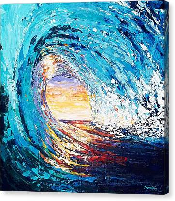 Wave Of Light Canvas Print by Suzanne King