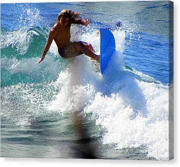 Puerto Rican Canvas Print - Wave Rider by Karen Wiles