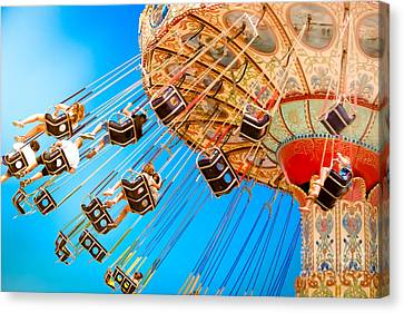 Casino Pier Canvas Print - Wave Swinger  by Colleen Kammerer