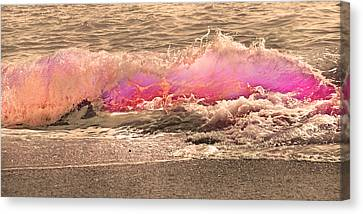 Green Energy Canvas Print - Wave The Storm Goodbye  by Betsy Knapp
