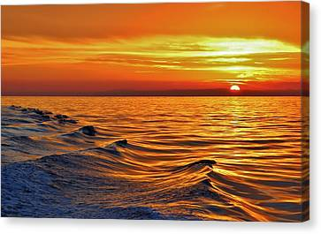 Wave To The Sun Canvas Print