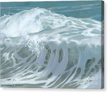 Wave X Canvas Print by Clinton Hobart