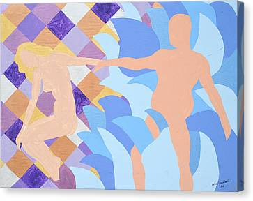 Canvas Print featuring the painting Waved by Erika Chamberlin