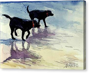 Black Lab Canvas Print - Waverunners by Molly Poole