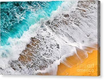 Waves Abstract Canvas Print by Silvia Ganora