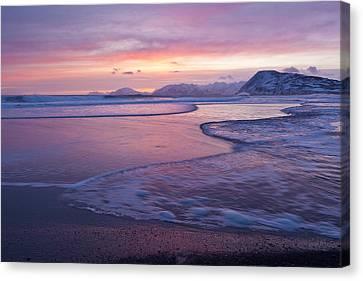 Waves Across A Sand Bar Canvas Print