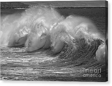Waves Canvas Print - Waves And Spray by Ana V Ramirez