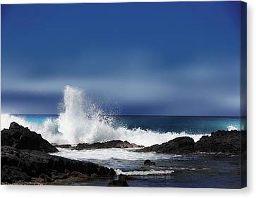 Canvas Print featuring the photograph Waves by Athala Carole Bruckner