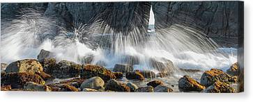 Waves Breaking On Rocks, Harris Beach Canvas Print by Panoramic Images
