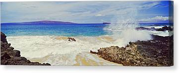 Waves Breaking On The Coast, Maui Canvas Print by Panoramic Images