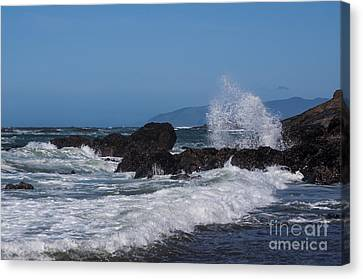 Waves Breaking On The Rocks Canvas Print