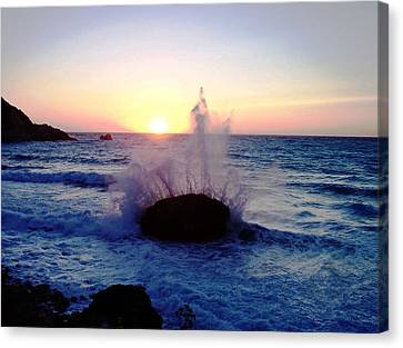 Waves Canvas Print by Constantinos Charalampopoulos