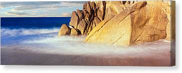 Waves Crashing On Boulders, Lands End Canvas Print by Panoramic Images