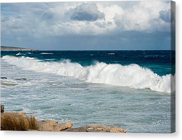 Waves Crashing On The Beach, Southern Canvas Print by Panoramic Images