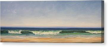 Waves Canvas Print by Dianna Poindexter