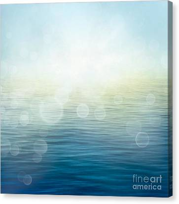 Waves In Motion Blur. Canvas Print