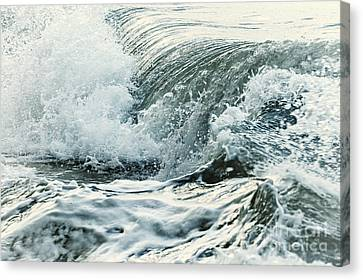 Weathered Canvas Print - Waves In Stormy Ocean by Elena Elisseeva