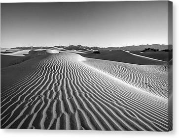 Waves In The Distance Canvas Print by Jon Glaser