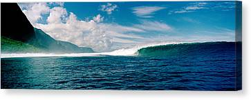 Waves In The Sea, Molokai, Hawaii Canvas Print by Panoramic Images