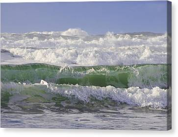 Waves In The Sun Canvas Print