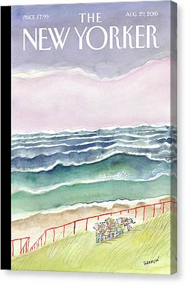 Waves Canvas Print by Jean-Jacques Sempe