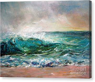 Canvas Print featuring the painting Waves by Jieming Wang