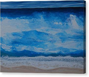 Waves Canvas Print by Linda Bailey