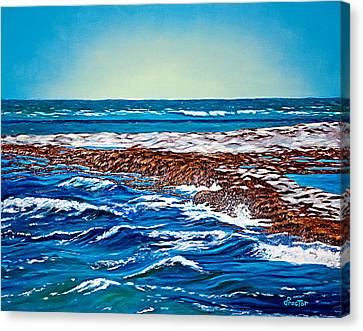 Waves Of Blue Canvas Print by Donna Proctor