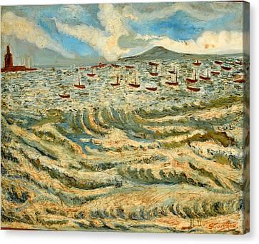 Waves Of Ganga Canvas Print