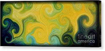 Waves Of Gold Canvas Print