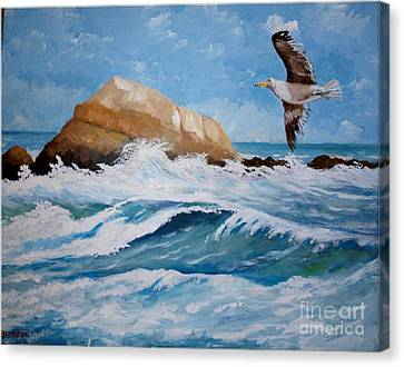 Waves Of The Sea Canvas Print
