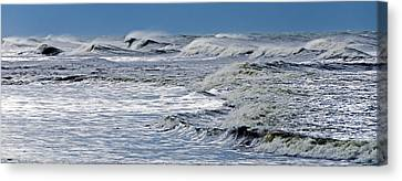 Waves Off Sandfiddler Rd Corolla Nc Canvas Print by Greg Reed